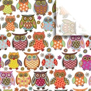 JAM Paper® Printed Gift Tissue, Owlie, 20 x 30 Inches, 240 Sheets (115BPT3271)