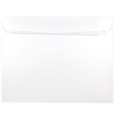 JAM Paper® 9 x 12 Booklet Envelope with Self Adhesive Closure, White, 25/Pack