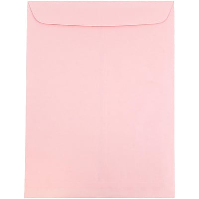 JAM Paper® 9 x 12 Open End Catalog Envelopes, Baby Pink, 25/pack (312812930a)
