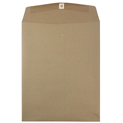 JAM Paper® 10 x 13 Open End Catalog Envelopes with Clasp Closure, Brown Kraft, 50/Pack (563120854i)
