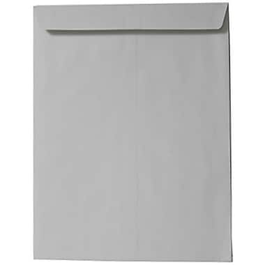 JAM Paper® 9 x 12 Open End Catalog Envelopes, Grey, 25/Pack