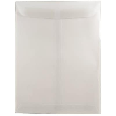 JAM Paper® 9 x 12 Open End Catalog Envelope, Clear Translucent Vellum, 50/pack (2851376i)