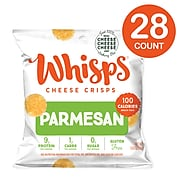 Whisps Parmesan Cheese Crisps, 0.63 oz, 28/Pack (307-00224)