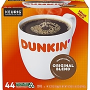 Dunkin' Donuts Original Blend Coffee, Keurig® K-Cup® Pods, Medium Roast, 44/Box (006933)