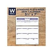 "2022 AT-A-GLANCE Flip-A-Week, 7"" x 5.5"" Desk Calendar with Base, Multicolor (SW700X-00-22)"