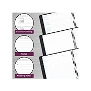 """2022 AT-A-GLANCE 5"""" x 8"""" Weekly/Monthly Planner, Contemporary, Graphite (70-100X-45-22)"""
