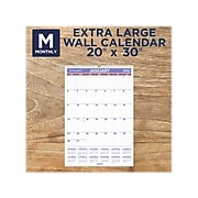 """2022 AT-A-GLANCE 30"""" x 20"""" Monthly Calendar, White/Red/Purple (PM4-28-22)"""