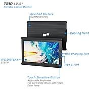 "Mobile Pixels TRIO 101-1003P01 12.5"" Portable LCD Monitor, Gunmetal Gray"