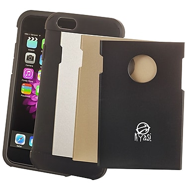 Kyasi Armor Smart Phone Case With Interchangeable Plates For Iphone 6/6S Plus, Navy Blue/Gold/Silver