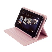 """Kyasi Seattle Classic Universal Folio Tablet Case For Sizes 7"""" - 8"""", Cha Cha Pink Polka Dots"""