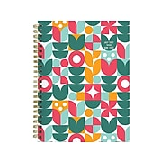 """2021-2022 TF Publishing 6"""" x 8"""" Weekly & Monthly Academic Appointment Book, Floral + Folk, Scandinavian Pattern (22-9042A)"""