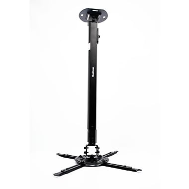 Qualgear Projector Ceiling Mount With Adjustable Extension Column Accessory, Black (Qg-Pm-002-Blk-L)