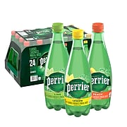 Perrier Carbonated Mineral Water, Assorted Flavors 16.9 oz., 24/Pack (12411241)