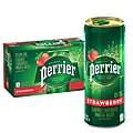 Perrier Slim Cans Carbonated Mineral Water, Strawberry, 8.45 Fl oz., 10/Pack (12316295)