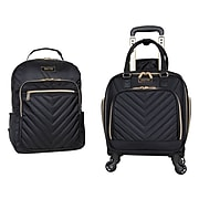 Kenneth Cole Polyester 2-Piece Luggage Set, Black (5717835)