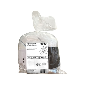Kimtech Disposable N95 Pouch Respirator, Regular Size, White, 50/Pack (53358)