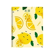 "2021-2022 TF Publishing 9"" x 11"" Weekly & Monthly Academic Appointment Book, Make Lemonade, Yellow/Green (22-9704A)"