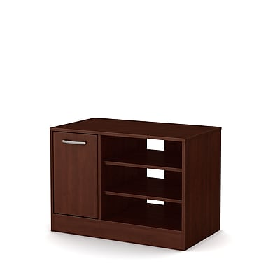 South Shore Axess Laminated Particleboard TV Stand for TVs up to 42'' with Storage, Royal Cherry, (10409)