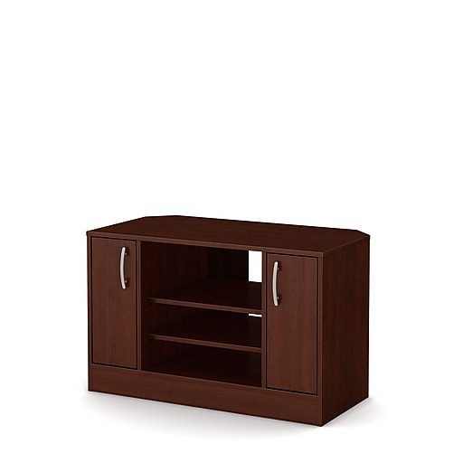 South S As Laminated Particleboard Corner Tv Stand With Doors For Tvs Up To 42 Royal Cherry 10410 Staples