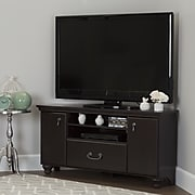 South Shore Noble Laminated Particleboard Corner TV Stand for TVs up to 55'', Dark Mahogany, (10380)