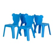 South Shore Crea Kids Plastic Stacking Chairs Blue, 4-Pack, (100176)