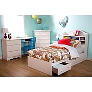 South Shore Summer Breeze Desk with 3 Drawers, White Wash (3210070)