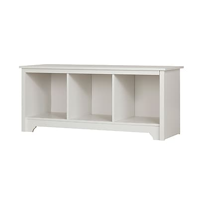 South Shore Vito Cubby Storage Bench Pure White (10327)