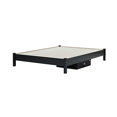 South Shore Step One Pure Black Queen Platform Bed 60