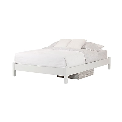 South Shore Step One Pure White Queen Platform Bed 60