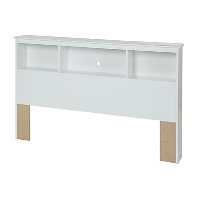 South Shore Crystal Full Laminated Particleboard Bookcase Headboard 57''W, White (3550093)