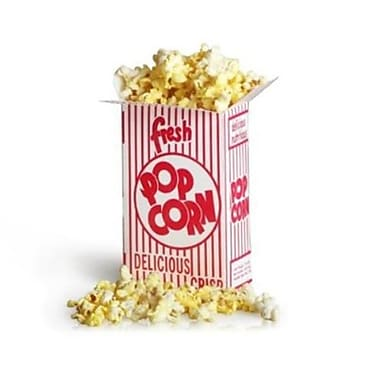 Great Northern .75 Ounce Movie Theater Small Popcorn Boxes, 100 Count (DTXINT040)