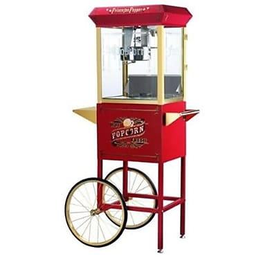 Great Northern Red Princeton Eight Ounce Antique Popcorn Machine and Cart (DTXINT093)
