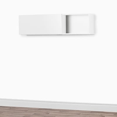 South Shore Interface Wall Mounted Storage Unit Pure White (10378)