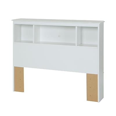 South Shore Crystal Twin Laminated Particleboard Bookcase Headboard 42.05''W, White (3550098)