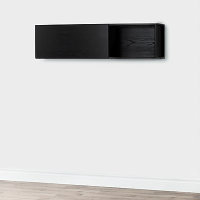 South Shore City Life Wall Mounted Storage Unit Black Oak (10377)