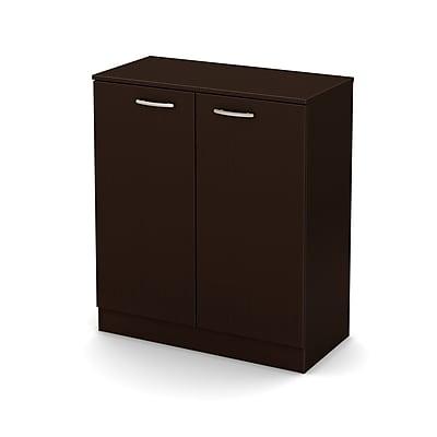 South Shore Axess 2-Door Storage Cabinet, Chocolate, (10182)