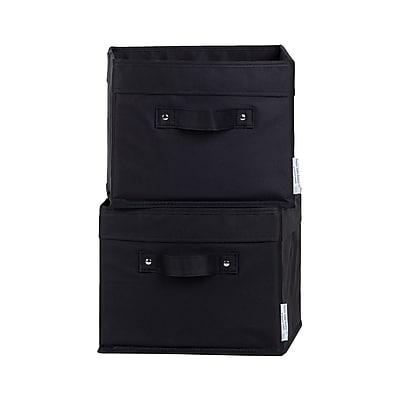 South Shore Storit Black Canvas Baskets, 2-Pack, (100030)