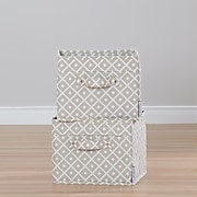 South Shore Storit Beige, Diamond Print Canvas Baskets with Pattern, 2-Pack, (100035)