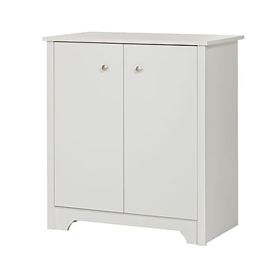 South Shore Vito Small 2-Door Storage Cabinet, Pure White, (10326)