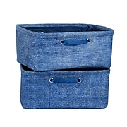 South Shore Storit Chambray Nightstand Baskets with Chambray Pattern, 2-Pack, (100056)