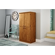 """South Shore Morgan 62.5"""" Particle Board Storage Cabinet with 4 Shelves, Country Pine (10074)"""
