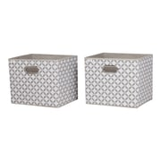 South Shore Storit Taupe and White Fabric Storage Baskets with Pattern, 2-Pack, (8050138)