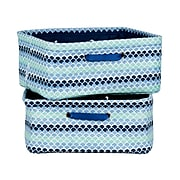 South Shore Storit Blue Scales Nightstand Baskets with Scales Pattern, 2-Pack, (100055)