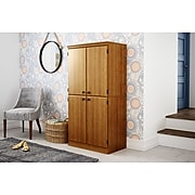 """South Shore Morgan 62.5"""" Particle Board Storage Cabinet with 3 Shelves, Cherry (10072)"""