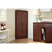 """South Shore Morgan 62.5"""" Particle Board Storage Cabinet with 3 Shelves, Royal Cherry (10388)"""