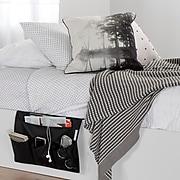 South Shore Storit Black Canvas Bedside Storage Caddy, (100042)