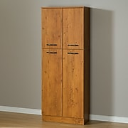 South Shore Axess 4-Door Storage Pantry, Country Pine, (10103)