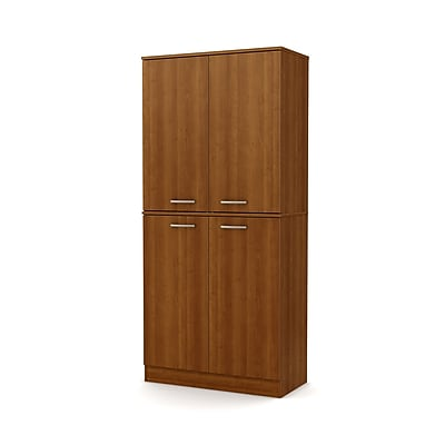 South Shore Axess 4-Door Armoire, Morgan Cherry, (10190)