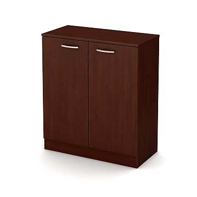 South Shore Axess 2-Door Storage Cabinet, Royal Cherry, (10185)