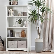 South Shore Artwork 4-Shelf Bookcase 58.13'', Pure White, (10219)